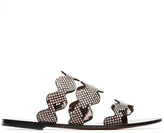 Chloé Lauren Snake Printed Sandals