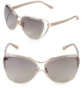 Linda Farrow Luxe 64MM Butterfly Sunglasses