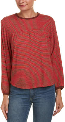 Velvet by Graham & Spencer Nanelle Linen-Blend Top