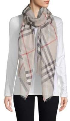 Burberry Plaid Wool-Blend Scarf