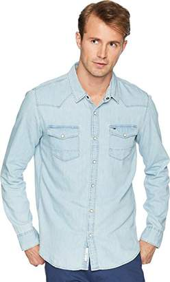 Tommy Hilfiger Tommy Jeans Men's Denim Shirt with Snaps Long Sleeves