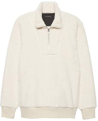 Banana Republic Sherpa Half-Zip Sweatshirt