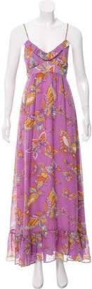 Nieves Lavi Silk Maxi Dress