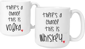 Personalized Gifts There's a Chance Large Coffee Mugs (Set of 2)