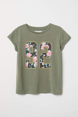 H&M Shirt with Printed Design - Green