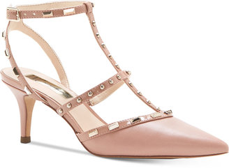 INC International Concepts Carma Pointed Toe Studded Kitten Heel Pumps, only at Macy's $89.50 thestylecure.com