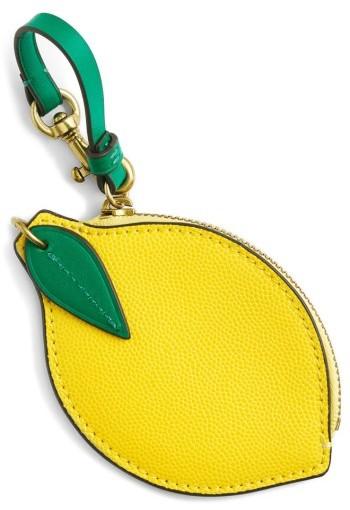 J.crew Leather Lemon Coin Purse - Yellow