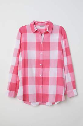 H&M H & M+ Cotton Shirt - White - Women