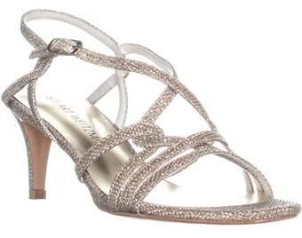 Stuart Weitzman On My Way Strappy Evening Sandals, Platinum