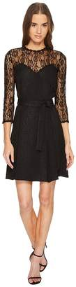 The Kooples Jacquard Dress with Lace Details and Braid Women's Dress