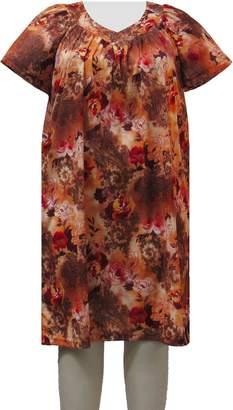 A Personal Touch Paprika Garden Women's Plus Size Lounging Dress - 7X