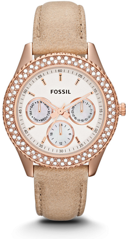 Fossil Stella Multifunction Sand Leather Watch