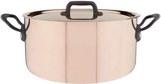 Mauviel Copper Saute Casserole Pan with Lid (24cm)