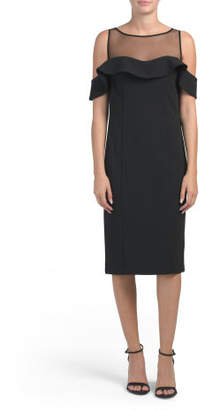 Cold Shoulder Illusion Top Dress