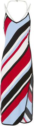 Adam Selman Pearl-Detailed Sarong Short Dress