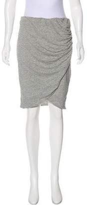 Alice + Olivia Linen-Blend Knee-Length Skirt