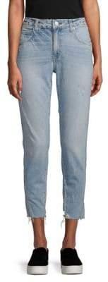 Amo Cropped Slit Hem Jeans