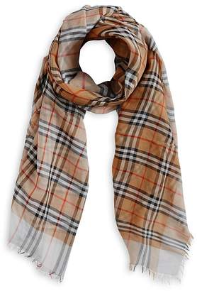 Burberry Two-tone Vintage Check Cotton Scarf