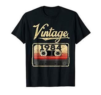 Vintage 1984 T Shirt 35th Birthday Vintage Cassette Shirt