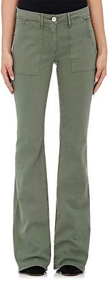 3x1 WOMEN'S W2 COTTON-BLEND MILITARY FLARE PANTS