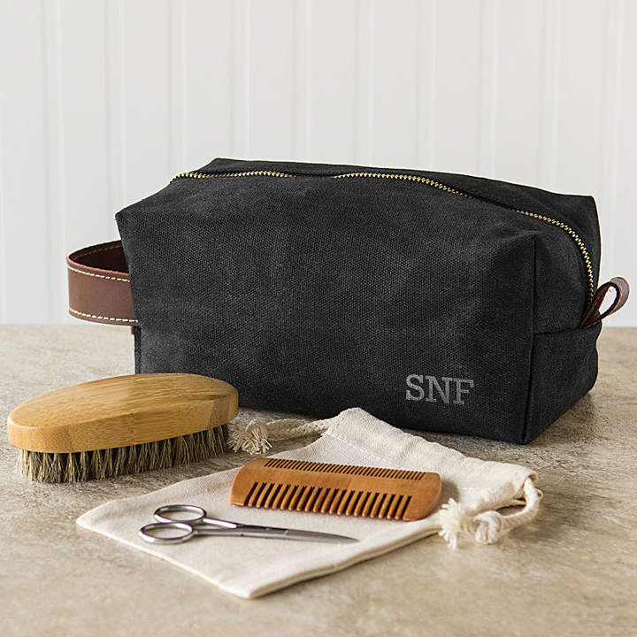 CATHYS CONCEPTS Cathy's Concepts Personalized Dopp Kit with Beard Care Set