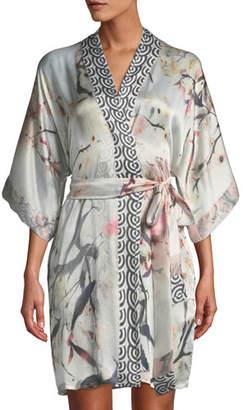 Christine Designs Nightingale Short Silk Robe