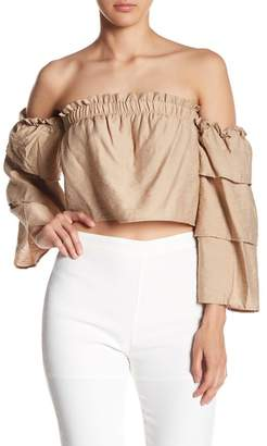 Endless Rose Off-the-Shoulder Layered Sleeve Top