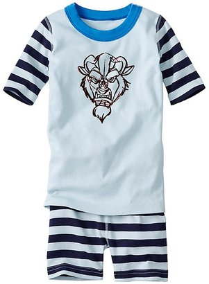 Kids Disney Beauty & The Beast Short John Pajamas In Organic Cotton $42 thestylecure.com
