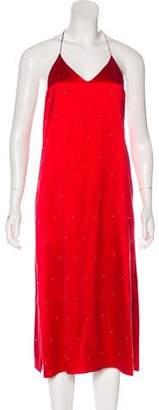 Amiri Embellished Satin Dress