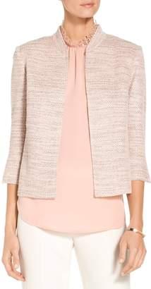 St. John Textural Micro Tweed Knit Jacket