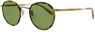 Garrett Leight Wilson 49 Round Sunglasses, Tokyo Tortoise/Amber Honey