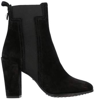Tod's Heeled Booties Suede Ankle Boots With Elastic Maxi T