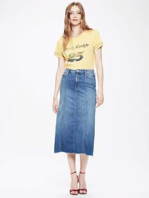 Mother High Waisted Super Panel Fray Skirt Tequila Mockingbird