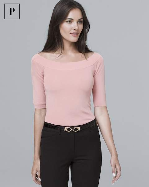 Whbm Petite Fitted Boatneck Sweater