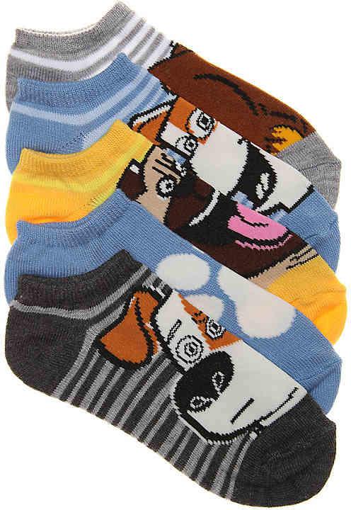High Point Design The Secret Life of Pets Kids No Show Socks - 5 Pack - Boy's