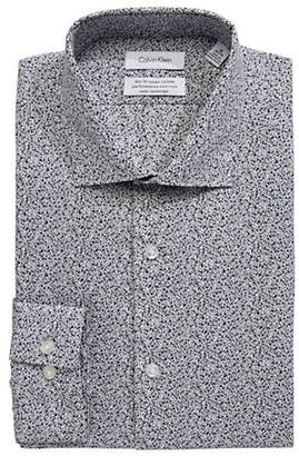 Calvin Klein Steel Slim-Fit Cotton Dress Shirt