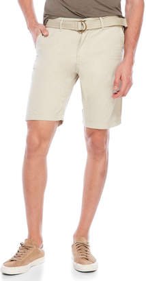 ProjekRaw Projek Raw Belted Canvas Shorts