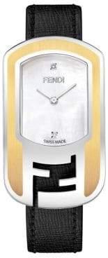 Fendi F303434511D1 Chameleon Two-Tone Diamond Leather Watch