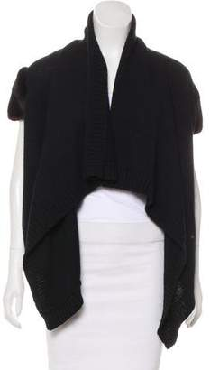 Givenchy Mink-Trimmed Merino Wool-Blend Cardigan