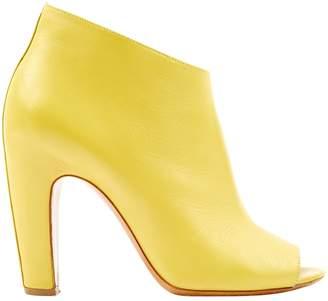 Maison Margiela Yellow Leather Boots