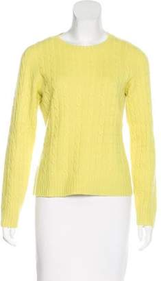 Magaschoni Cable Knit Crew Neck Sweater