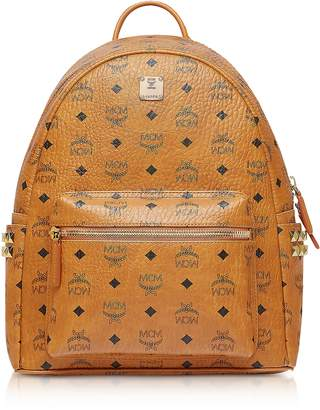 MCM Cognac Small-Medium Stark Backpack
