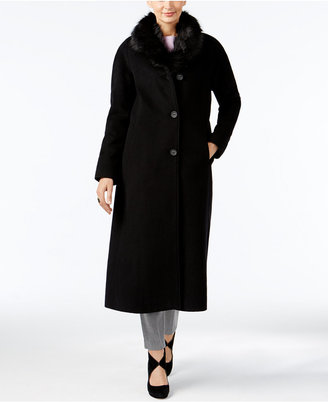 Jones New York Faux-Fur-Collar Maxi Coat $460 thestylecure.com