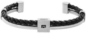 Ben Sherman Braided Faux Leather Cuff Bangle