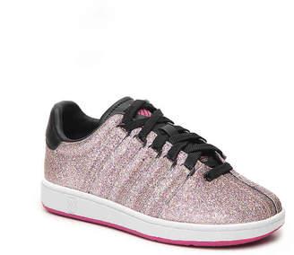 K-Swiss Classic Glitter Toddler & Youth Sneaker - Girl's