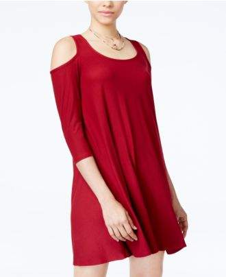 Planet Gold Juniors' Cold-Shoulder Dress