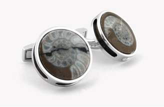 Tateossian Devonian Ammonite And Silver Cufflinks