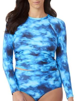 a88599a8708d8 100 Degrees Women s Rash Guard with Mesh Sleeves