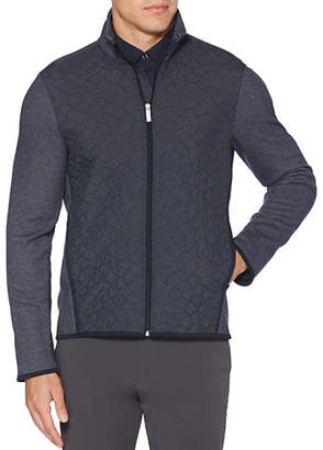 Perry Ellis Quilted Full-Zip Knit Jacket