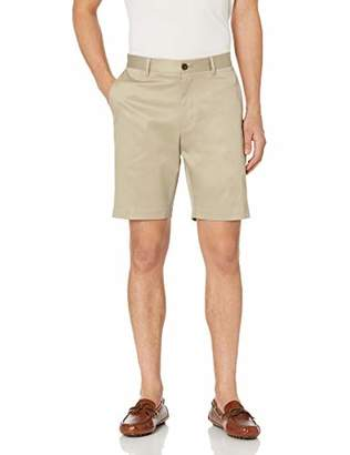 "Buttoned Down Men's Slim-Fit Flat Front 9"" Inseam Non-Iron Chino Short"